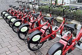 自転車の尾行、レンタルサイクル